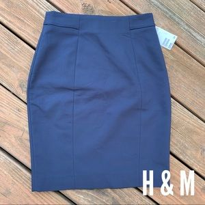 NWT H&M Navy Work / Career Skirt